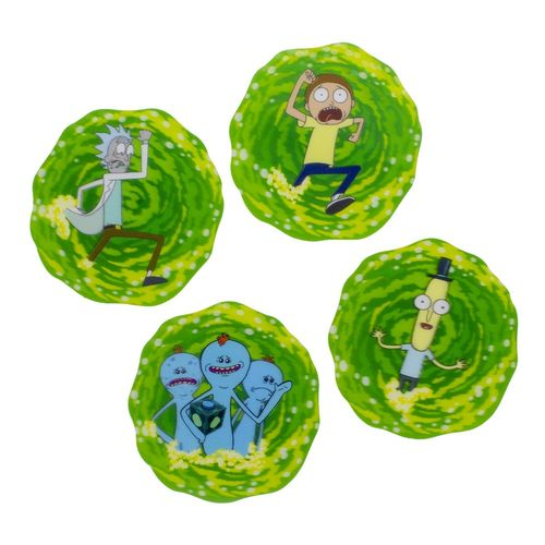 Set de posavasos 3D Rick & Morty