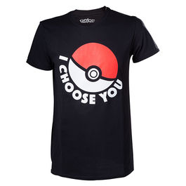 BIO - Camiseta Negra POKEMON Pokeball S