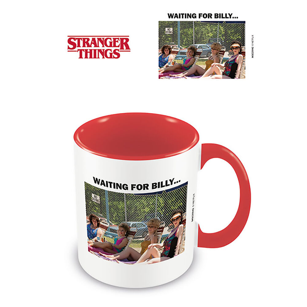 Taza Strager Things Waiting for Billy