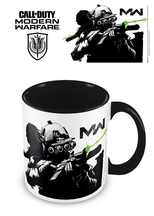Taza desayuno color Call of Duty Stealth negra