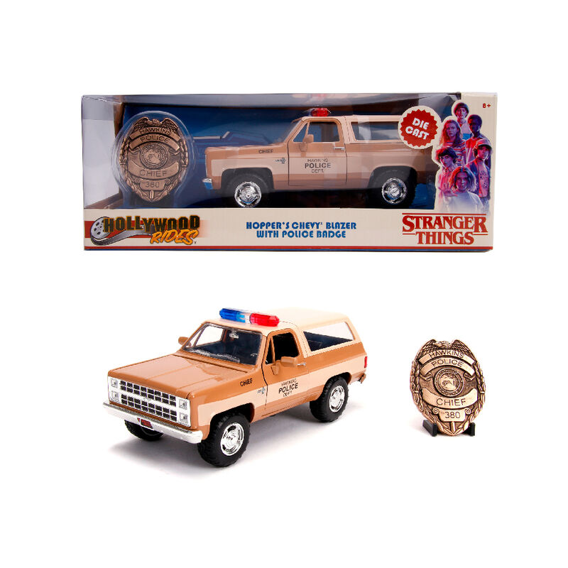 Set Stranger Things figura Chevy K5 Blaze y Placa