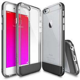 REARTH - Carcasa FUSION Borde Gris Metal iPhone 6