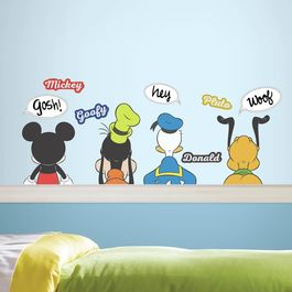 ROOM - Pegatinas Decorativas Pared Mickey y amigos