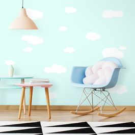 ROOM - Pegatinas Decorativas Pared  Nubes Blancas