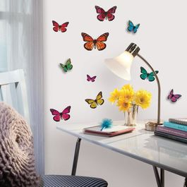 ROOM - Pegatinas Decorativas Pared Mariposas 3D