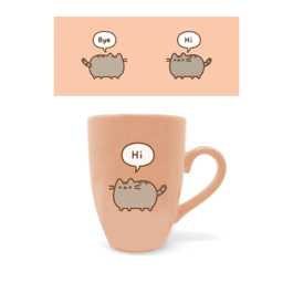 PYR - Taza tipo Latte Pusheen Hola y Adiós