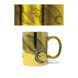 PYR - Taza Metálica Harry Potter Snitch Dorada