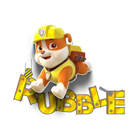 3DLIGHTFX - Mini Lámpara Paw Patrol Rubble