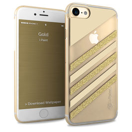 IPAINT - Carcasa Glamour - Gold iPhone 7